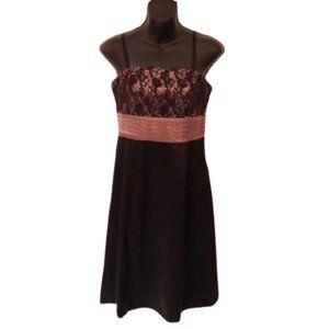 RW & Co. Satin and Lace Cocktail Dress NWT- Sz. 4
